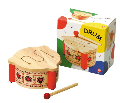 Pintoy Solid wooden Drum, Toy Musical Instruments