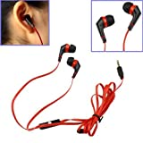 Red 1.3m In-Ear Earbud w/ Microphone Earphone Headphone for Apple iPhone 5 4S