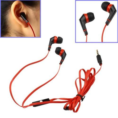 Red 1.3M In-Ear Earbud W/ Microphone Earphone Headphone For Apple Iphone 5 4S