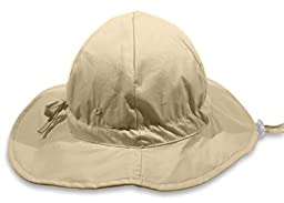 Baby Sun Hat By Colwares - 100% Cotton Sun Protection With Wide Brim (Tan, 24 Months)