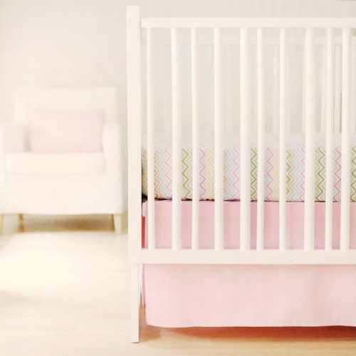 New Arrivals Sweet and Simple Crib Bedding Set, Pink, 2 Piece