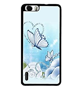 printtech Butterfly Pearls Back Case Cover for Huawei Honor 6x