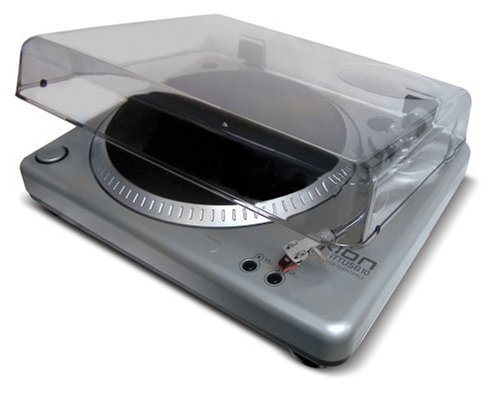 Ion Audio TTUSB 10 Vinyl Recording USB Turntable with Audacity Software, Dust Cover and Analog Stereo Input
