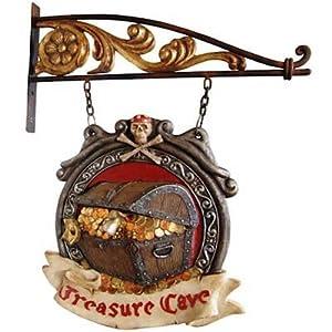 Treasure Cave Eingangsschild Dekorationsfigur