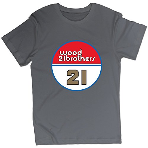 Man's Wood Brothers Racing 21 Ryan Blaney T-shirt DeepHeather XXL (Wood Brothers T Shirt compare prices)