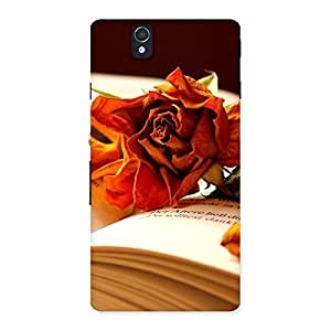 Cute Rose Book Back Case Cover for Sony Xperia Z