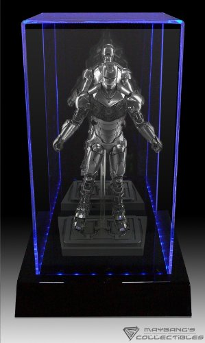 """Maybang 3 Color Led Lighted Display Case For Hot Toys 12"""" Figure, 1/6 Scale Figure Doll, Statue"""