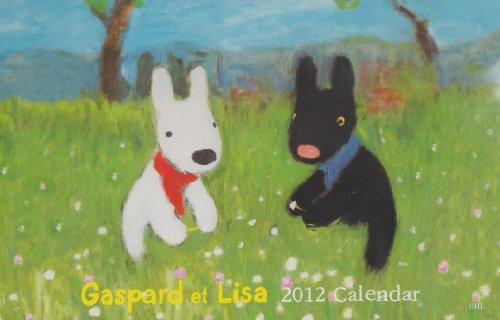 花畑の中のリサとガスパール (2012年版学研カレンダー)