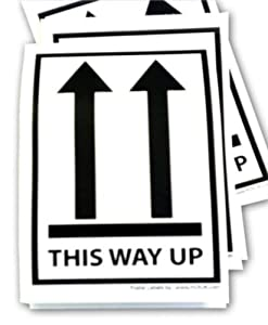 12 x This Way up Box labels for shipping. Parcel stickers ...  12 x This Way u...