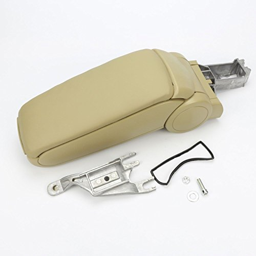 9milelake Beige Leather Center Console Armrest Full Kit for VW Audi A4 2002-2006 4 Door (Audi A4 Center Console Kit compare prices)