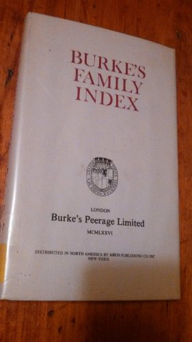 Burke's Family Index