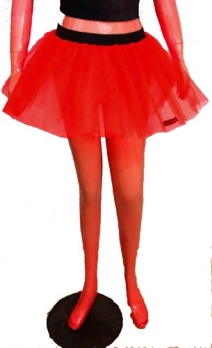 Red Mini Tutu Skirt Petticoat Dance Fancy Costume Dress Party Free Shipping