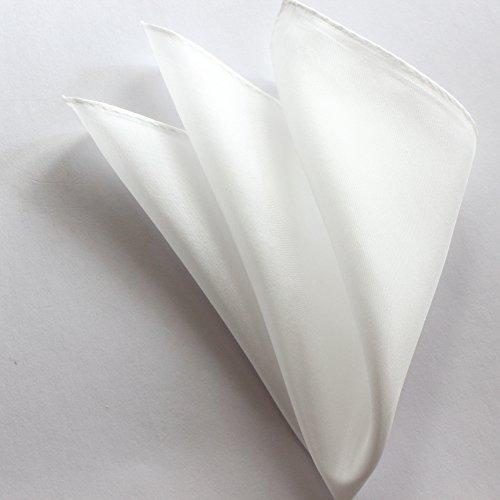 アバサ(abasa) ポケットチーフ 白 ( ホワイト ) シルク 100% 羽二重 日本製