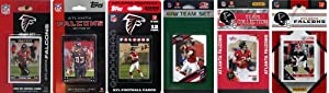 NFL Atlanta Falcons Six Different Licensed Trading Card Team Sets by C&I Collectables