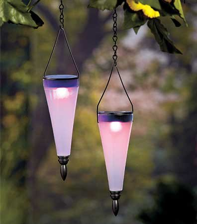 Set Of 2 Color-Changing Solar Lanterns Is A Pair Of Led Light Bulbs Is A Perfect Outdoor Lighting That Works Using Solar Power Energy. This Lighting Fixture Are Similar Lights Used For A Grow Light But Only For Just Lighting Up The Place. These Led Bulbe