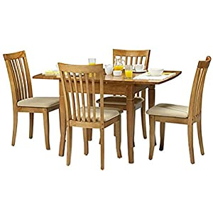 Newbury Extending Dining Table + 4 Chairs   Cream Faux Leather Seats   Maple       Customer review
