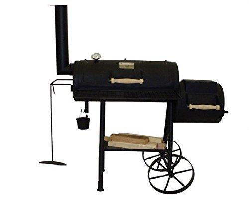 SMOKER Ondra 327 aus 4 mm Stahlblech, mit Kochplatte und Aufnahme für Grillspieß kaufen