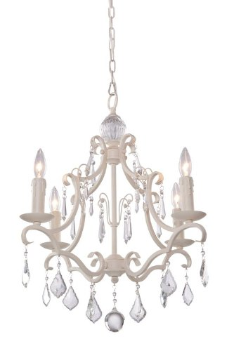 B008CEXRKQ Artcraft Lighting CL1574AW Vintage Four-Light Chandelier, Antique White
