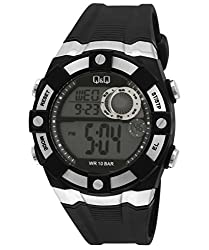 Q&Q Digital White Dial Mens Watch - M074J001Y