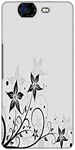 Snoogg Seamless Floral Pattern Abstract Background Designer Protective Back Case Cover For Micromax Canvas Knight A350
