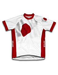Japon Flag Short Sleeve Cycling Jersey for Women
