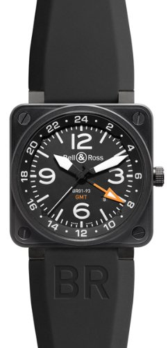 NEW BELL & ROSS BR 01-93 GMT AUTOMATIC WATCH BR01-93-GMT