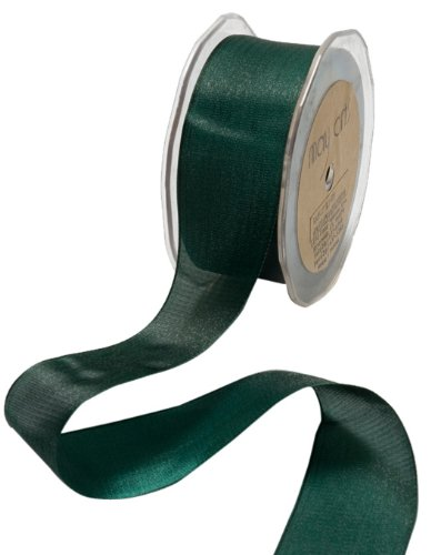 May Arts 1/2-Inch Wide Ribbon, Forest Green Iridescent