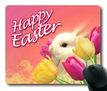 Sakuraelieechyan Easter Bunny Rectangle Mouse Pad front-180327
