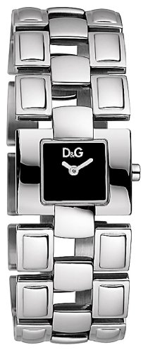 D & G Ladies Quotes Quartz Watch DW0474 With Black Square Analogue Dial And Bracelet