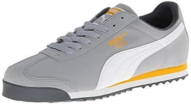 PUMA Men's Roma SL NBK 2 Classic Sneaker,Quarry/White/Gold Fusion,7 M US