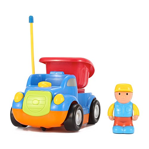 Cartoon-RC-CementMixer-Dump-Truck-Radio-Control-Toy-for-Toddlers-by-Liberty-Imports-ENGLISH-Packaging