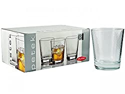 Pasabahce Petek Whisky Glass Set, 280ml, Set of 6