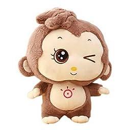 Smile YKK Cartoon Cute Big Eyes Monkey Plush Toys Doll Mascot-55cm Brown