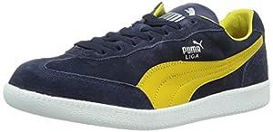 Puma Liga Suede, Unisex-Erwachsene Sneakers, Blau (peacoat-ceylon yellow 92), 37.5 EU (4.5 Erwachsene UK)