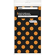 Orange & Black Polka Dot Halloween Pl…