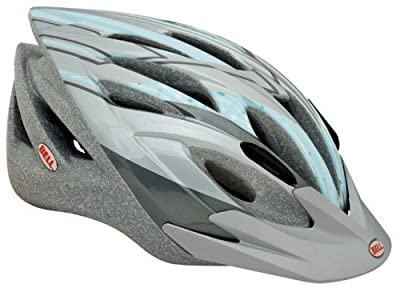 Chloe Mountain Girl Sassy Womens Bike Helmet, Gray Blue Cottonwood from Bell Sports