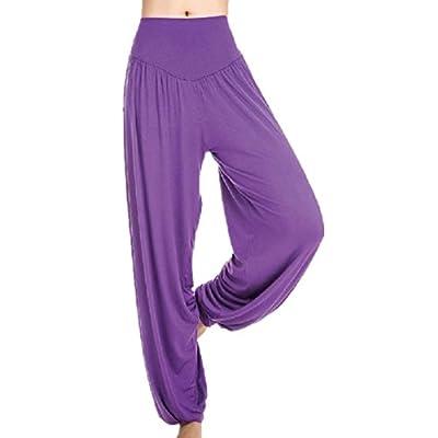 Eachbid Harem Genie Aladdin Causal Dance Yoga Pants Baggy Jumpsuit