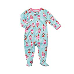 Carter\'s Toddler Girls Zip Front Castles 1pc Footed Sleeper (3T)