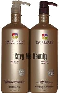 Pureology Nanoworks Shampoo & Conditioner Liter, 33.8 oz. each, Free Pumps