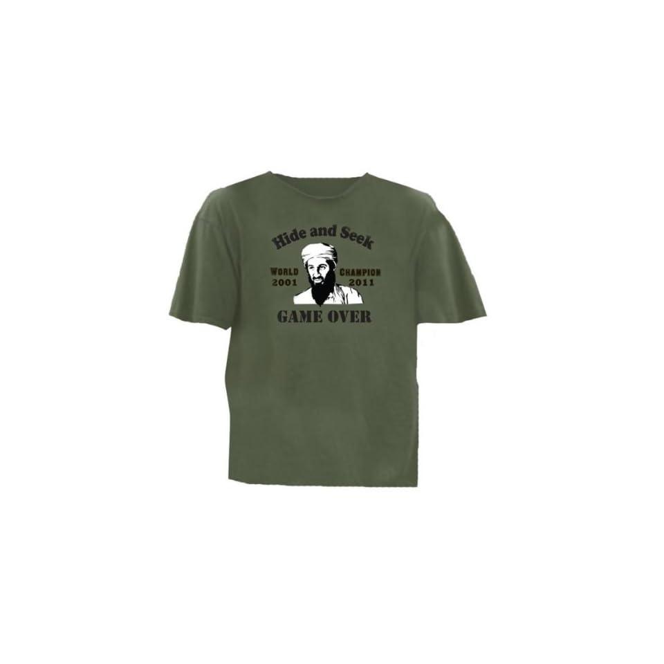 a40a650c3 Osama Bin Laden Hide and Seek T Shirt Green Case Pack 24 Osama Bin Laden  Hide