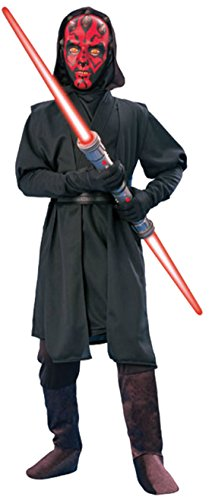 [Boys Darth Maul Deluxe Kids Child Fancy Dress Party Halloween Costume, L (12-14)] (Child Darth Maul Costumes)