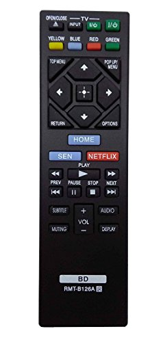 New Replacement Remote Control RMT-B126A for SONY Blu-Ray DVD Player BDP-BX120 BDP-BX320 BDP-BX520 BDP-BX620 BDP-S1200 BDP-S5200/D BDP-S6200 BDP-S2100 BDP-S2200 BDP-S3200 BDP-S5200 (Dvd Player Remote Control compare prices)