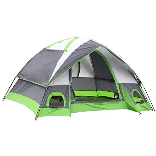 Semoo Water Resistant D-Style Door, 4-Person Camping/Traveling Family Dome Tent