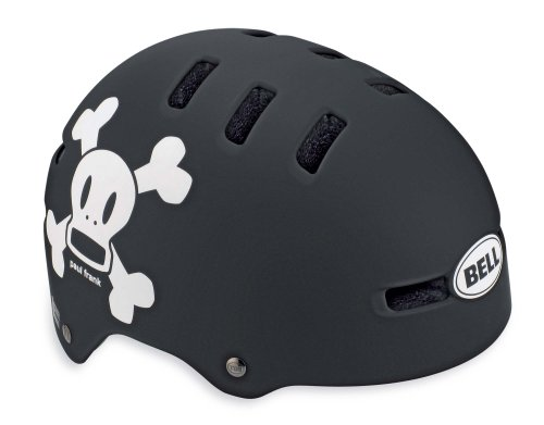 Bell Fraction Youth Bicycle Helmet, Matte Black/White Paul Frank Skull, X-Small