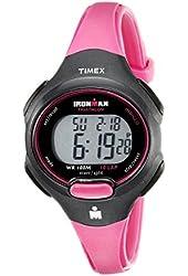 Timex Ladies T5K525 Ironman 10-Lap Watch - Hot Pink/Black