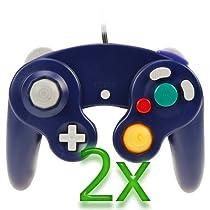 GTMax 2x Indigo Controller for Nintendo Wii Gamecube