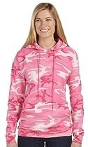 Code V CF Adult Camo Hoodie, Pink Woodland, Large