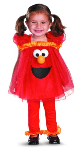 Disguise Girl's Sesame Street Frilly Light Up Elmo Costume, 2T