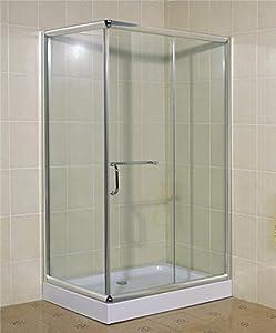 Concept-Usine Lario : paroi de douche : l 120 X L 80 X H 195 cm, receveur inclus, structure en aluminium haute qualité