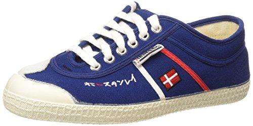 Kawasaki-2390-Ed-Ex-Sho-Zapatillas-de-lona-canvas-para-hombre-color-azul-rojo-blanco